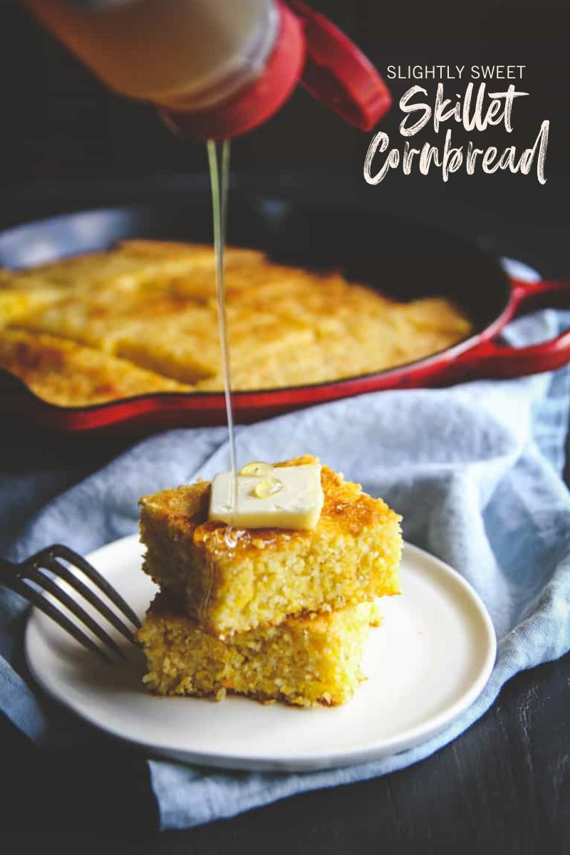 Slightly Sweet Skillet Cornbread
