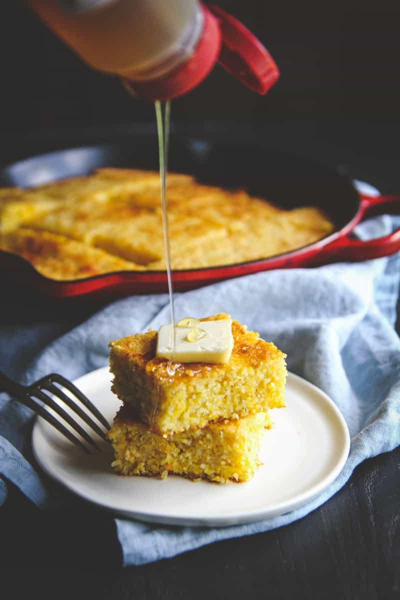 The best ever slightly sweet skillet cornbread you can make