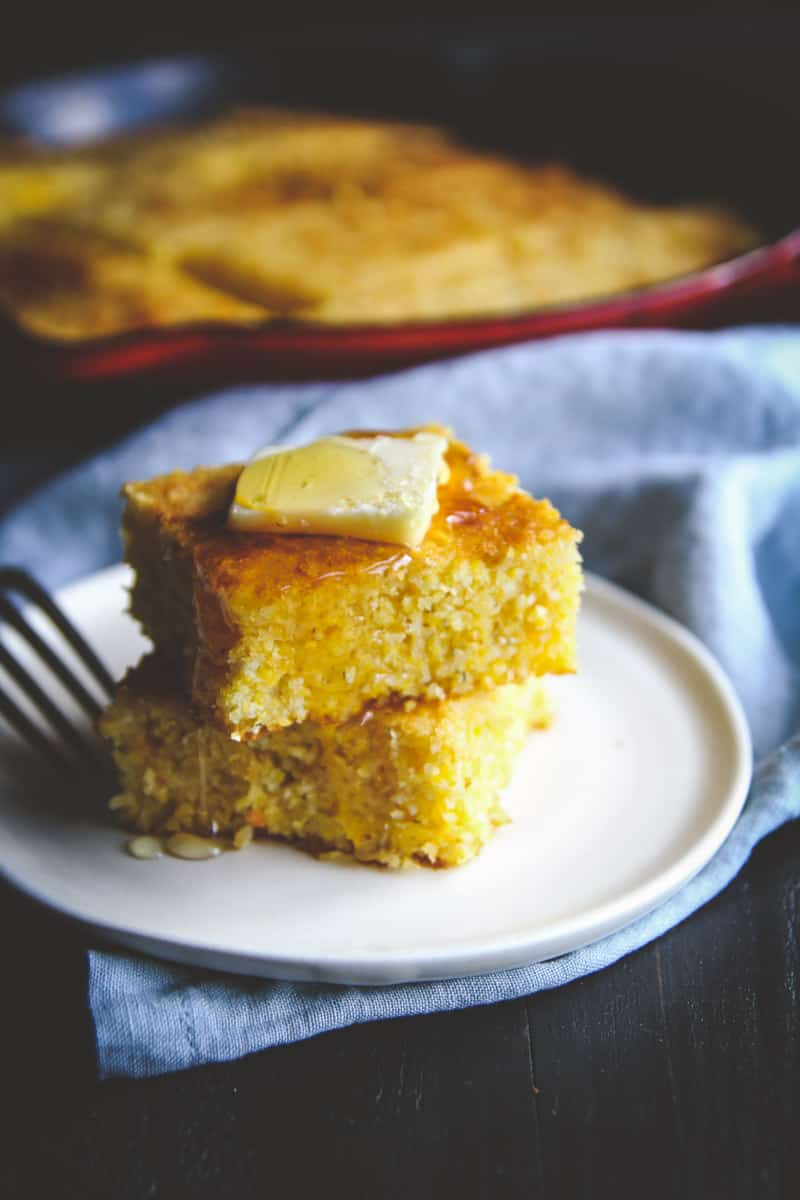 The best slightly sweet skillet cornbread you will ever make