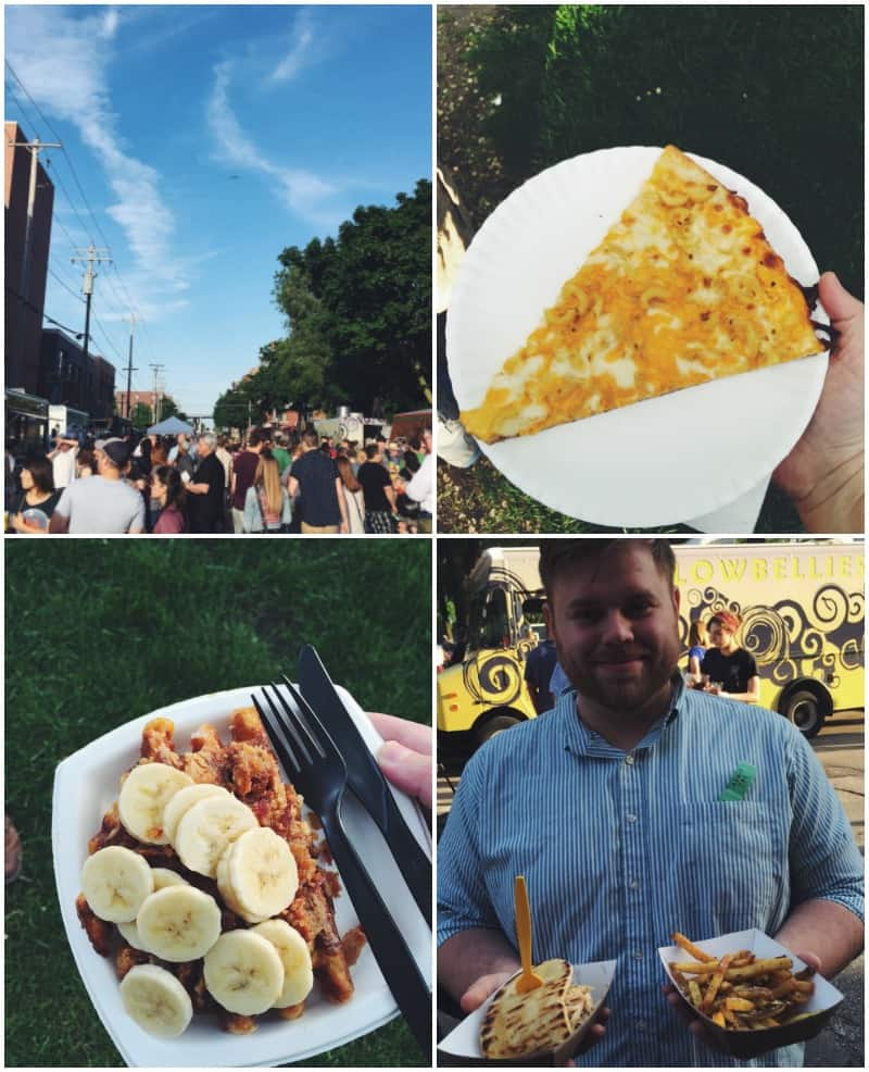 Exploring at the Street Eats Food truck festival