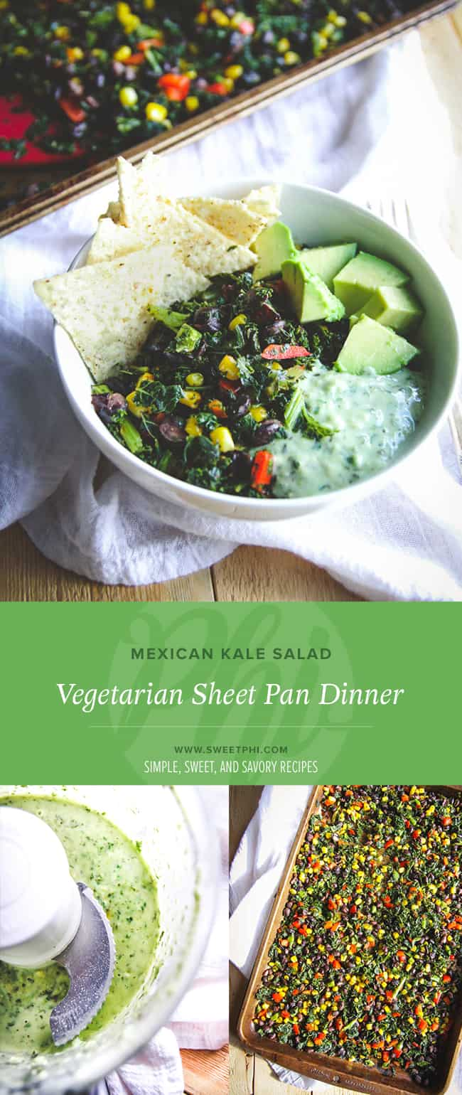 The best recipe for vegetarian sheet pan dinner Mexican kale salad you will ever make