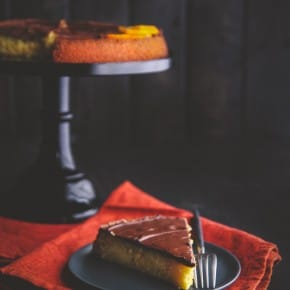 5 Ingredient cake recipe - chocolate almond orange cake from Fast and Easy Five Ingredient Recipes cookbook from @Sweetphi