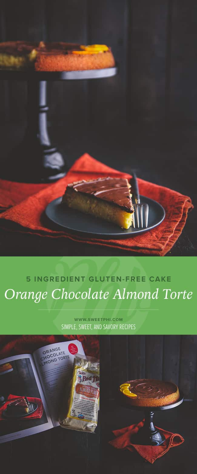 The best 5 ingredient gluten free cake - orange chocolate almond cake