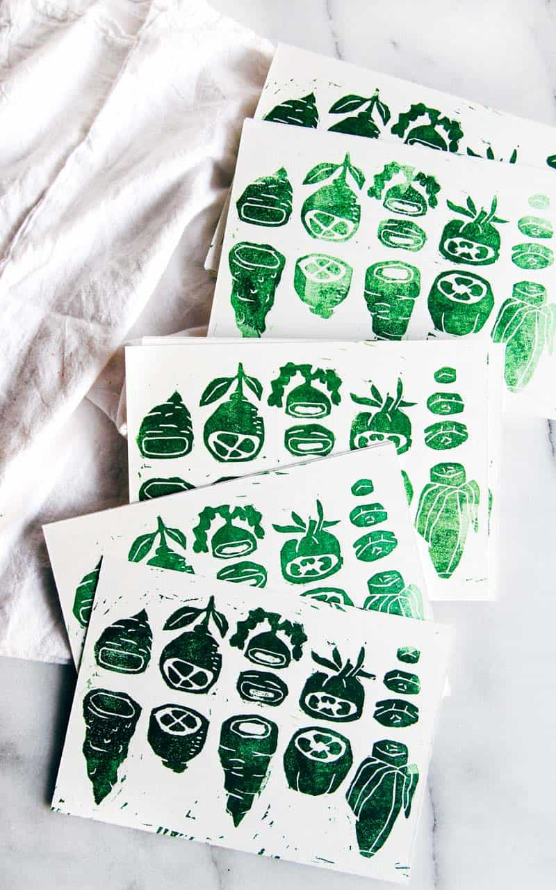 The cutest 5 ingredient linocut print with Bay View Printing Co