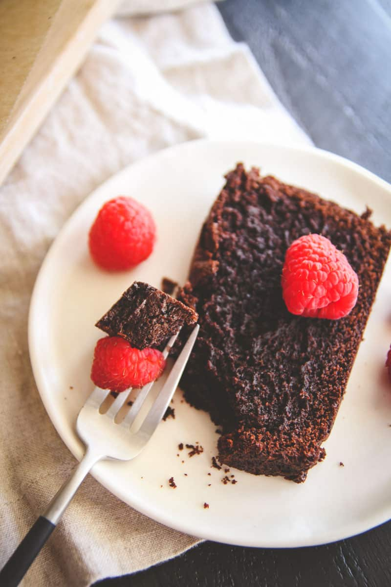The perfect double chocolate loaf is this recipe