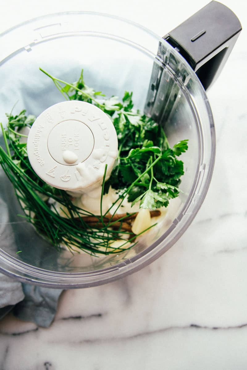 This green goddess dipping sauce dressing made with yogurt is the best ever