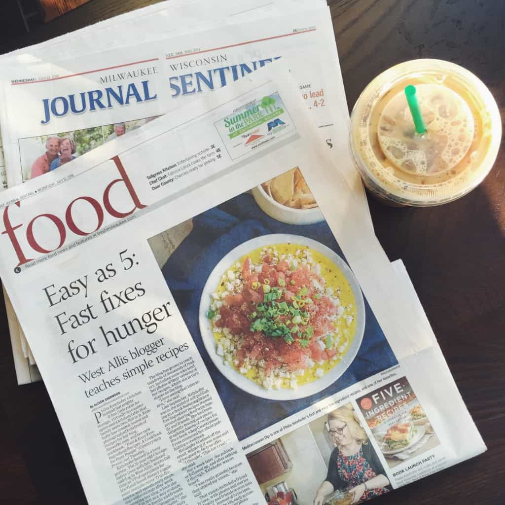 The Sweetphi cookbook was featured in the newspaper in Milwaukee, WI