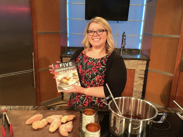 So exciting to be on TV for my cookbook