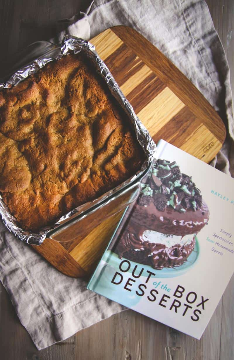 The best chocolate filled peanut butter bars from Out of the Box Desserts cookbook