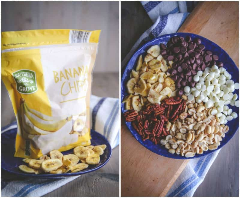 How to use banana chips to make the best banana chip tuxedo trail mix