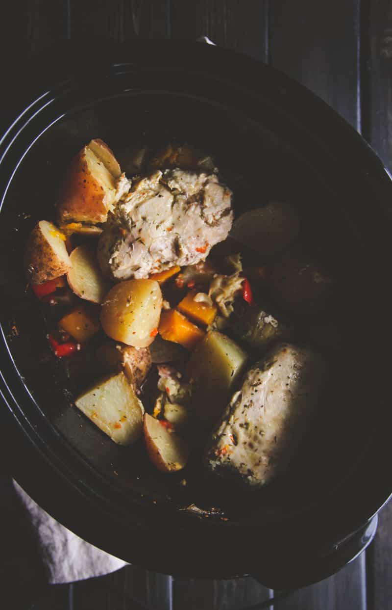 The best crockpot Greek chicken and vegetables to make