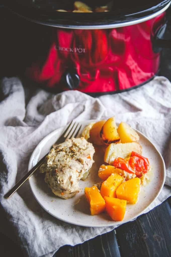 Slow Cooker Greek Chicken And Vegetables Sweetphi