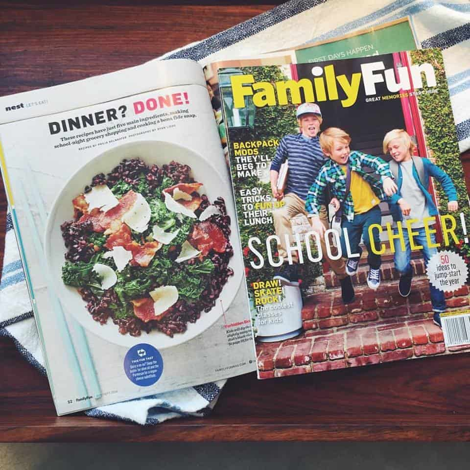 My cookbook recipes featured in Family Fun