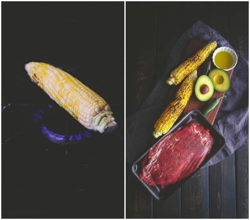 The best stovetop charred corn for 5 ingredient steak and corn salad