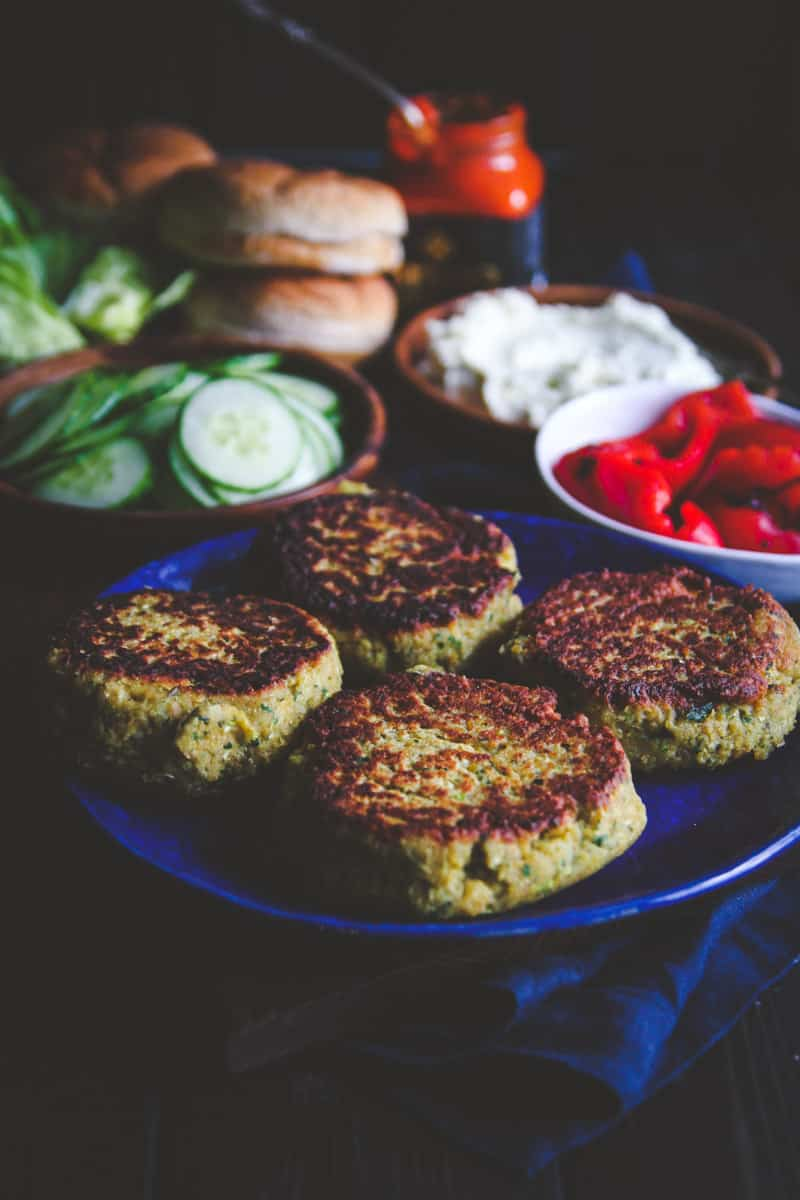 The best veggie burgers are these chickpea and zucchini burgers