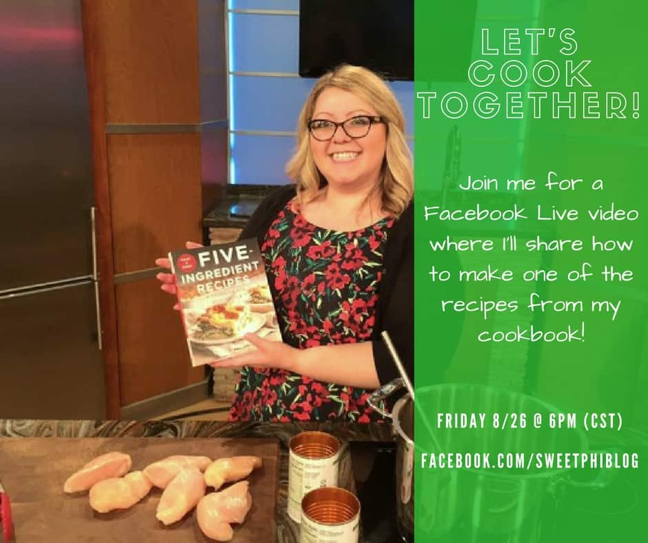 Facebook live cooking video on the SweetPhi Blog Facebook Page