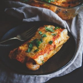 5 Ingredient Shrimp and Black Bean Enchiladas