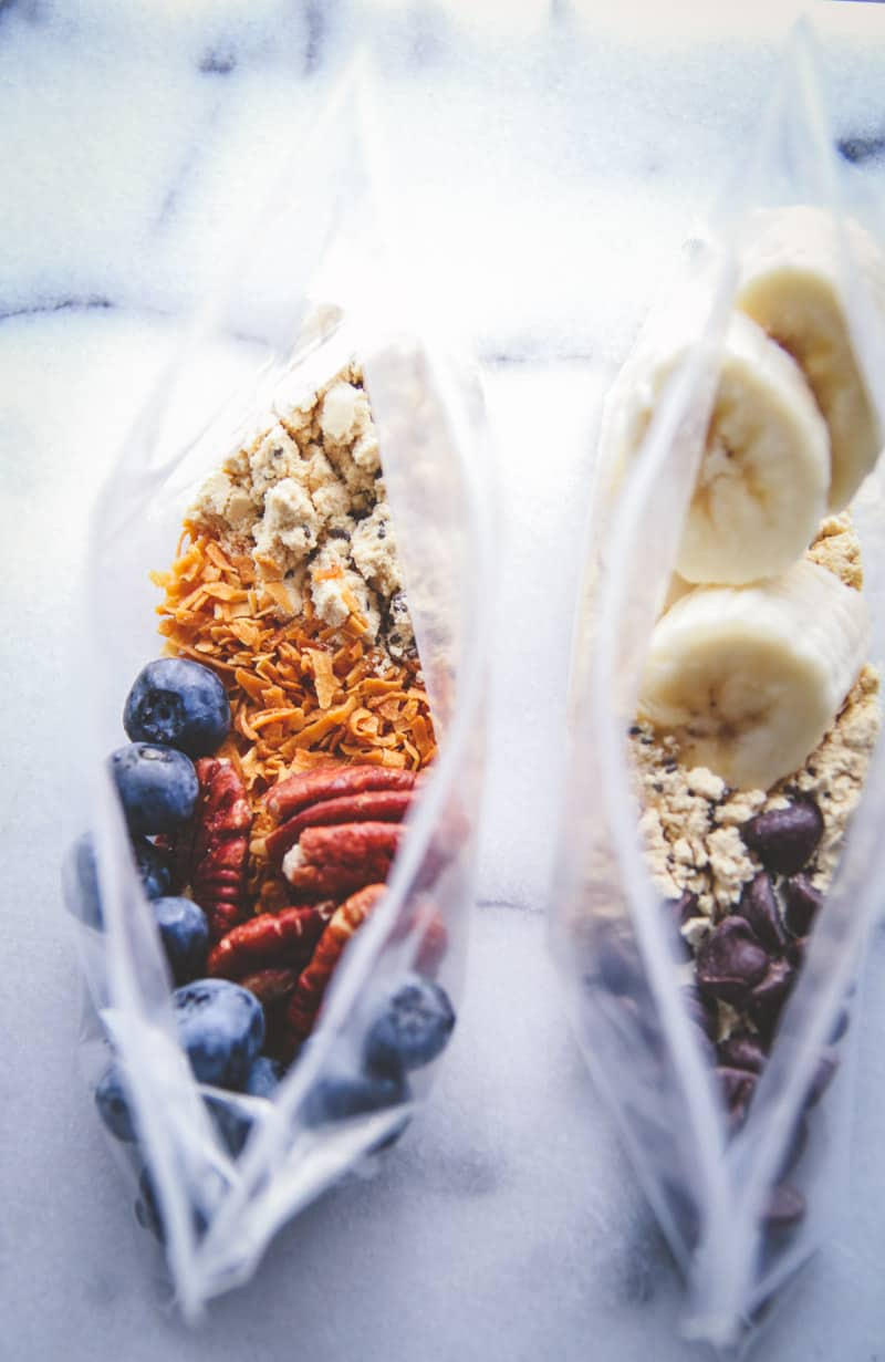 The easiest meal prep for on the go oatmeal cups & toppings
