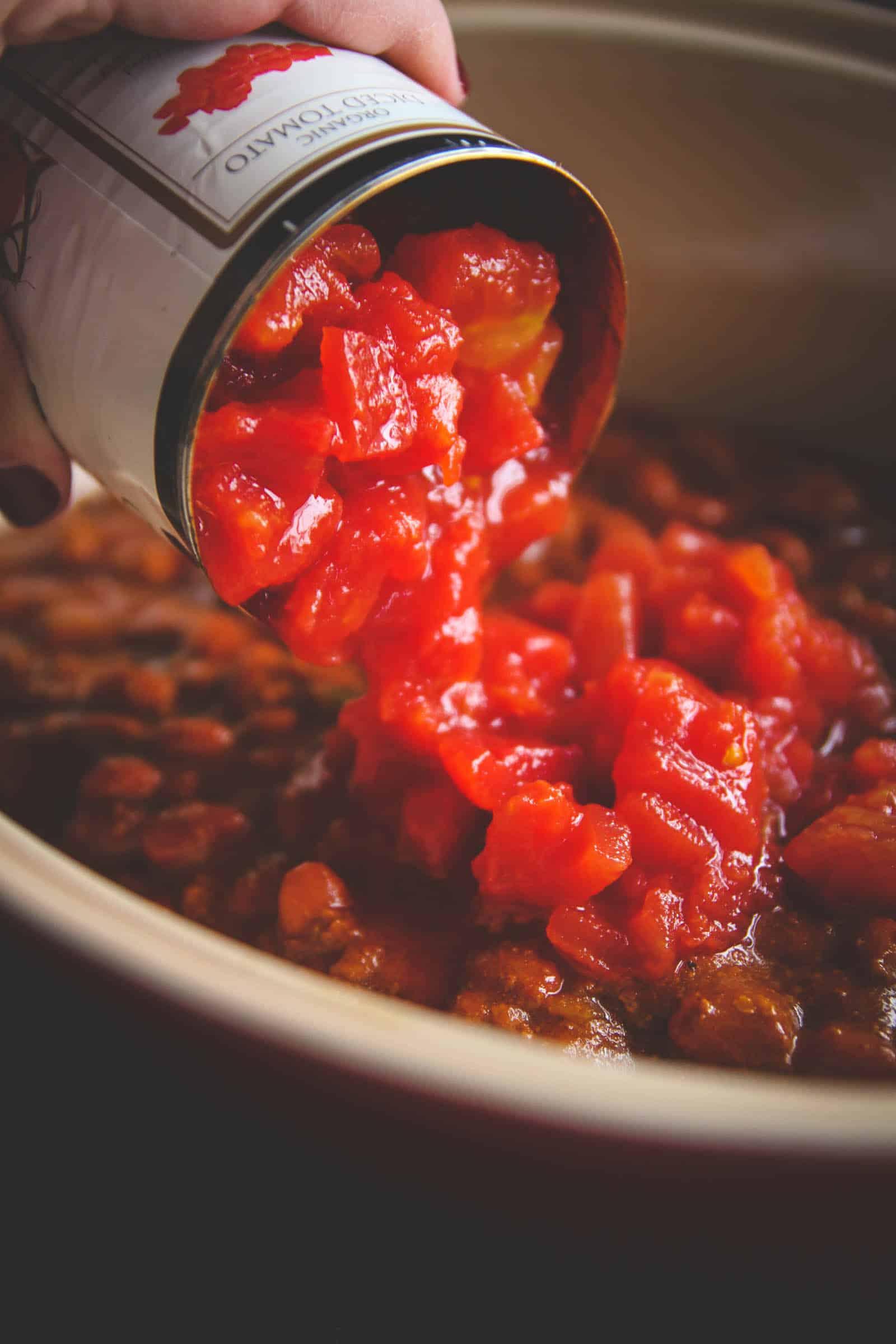 The easiest 5 ingredient pumpkin chili biscuit bake