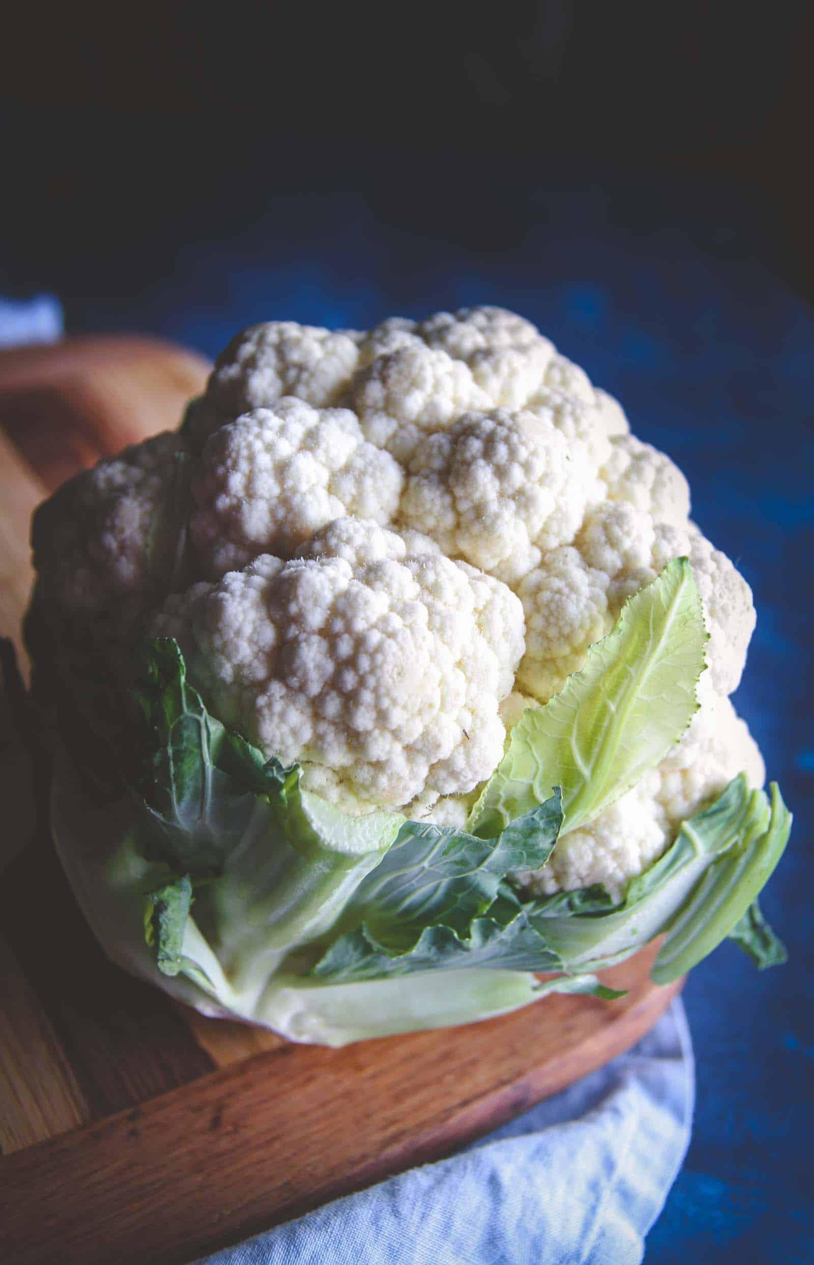 Super delicious 5 ingredient cheesy cauliflower bake