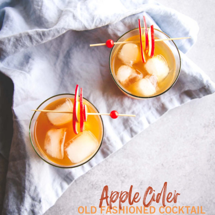 5 Ingredient Apple Cider Old Fashioned Cocktail Recipe Sweetphi