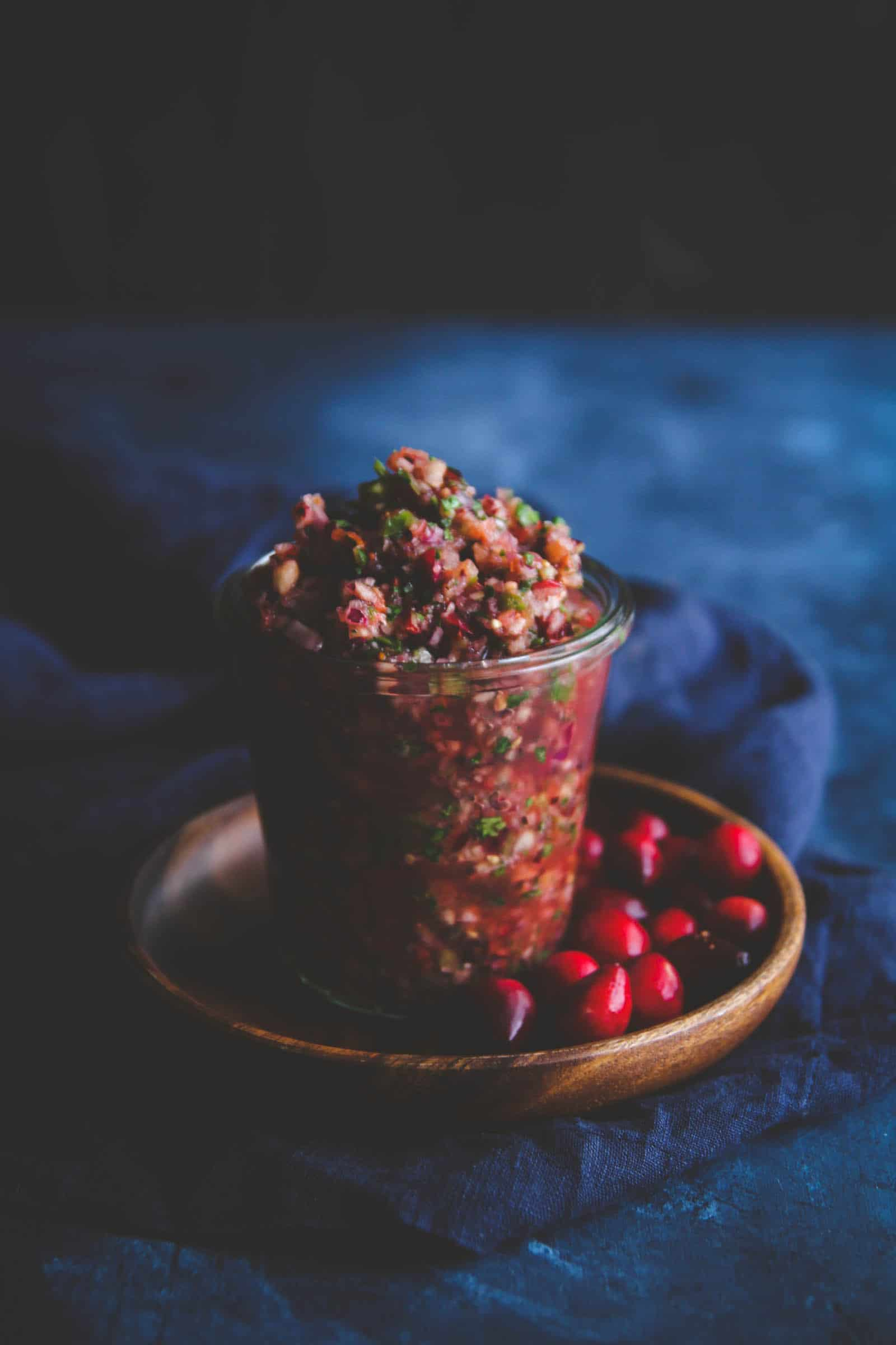 Super unique and delicious cranberry salsa