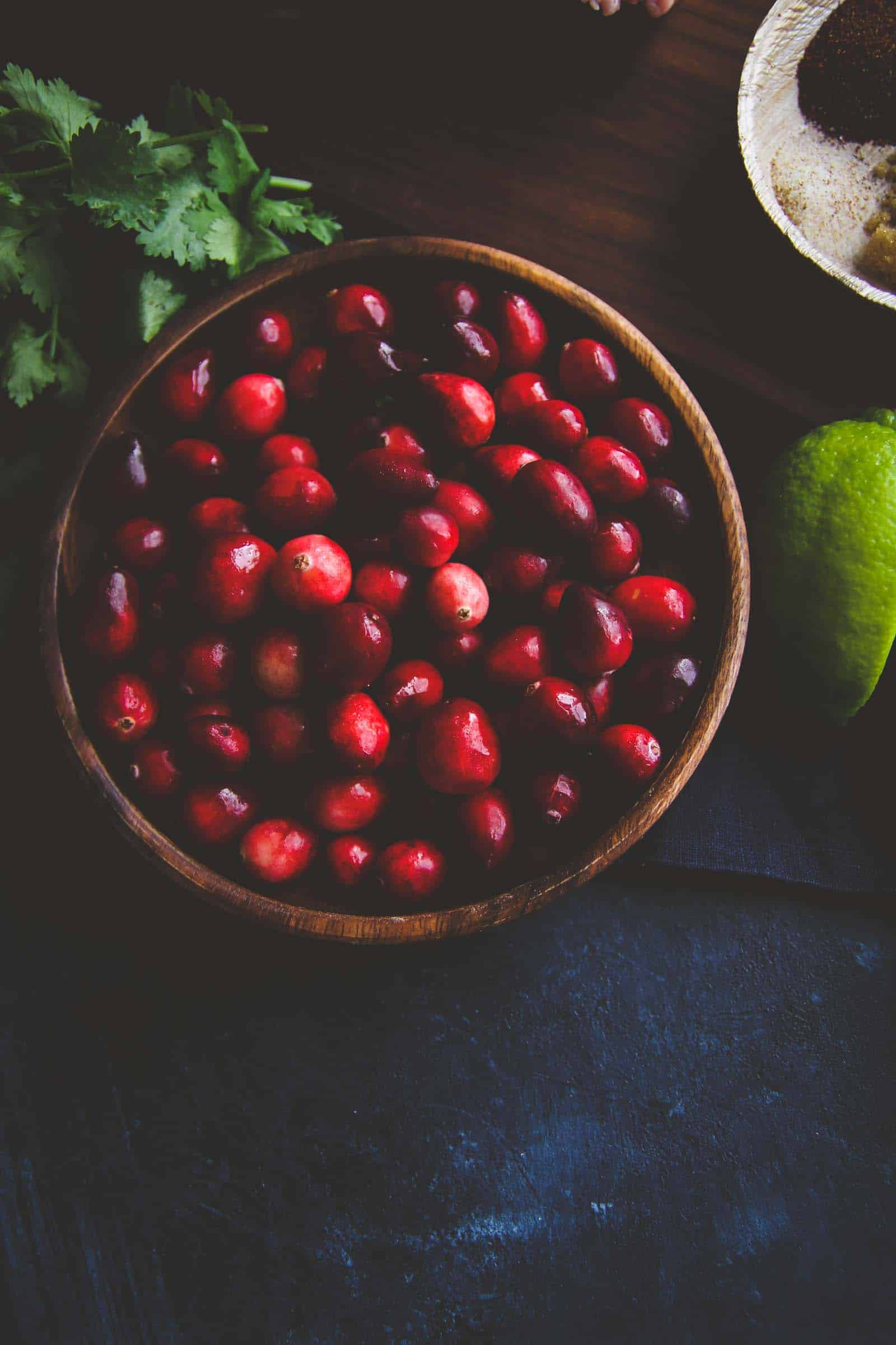 Fresh cranberries for the best cranberry salsa
