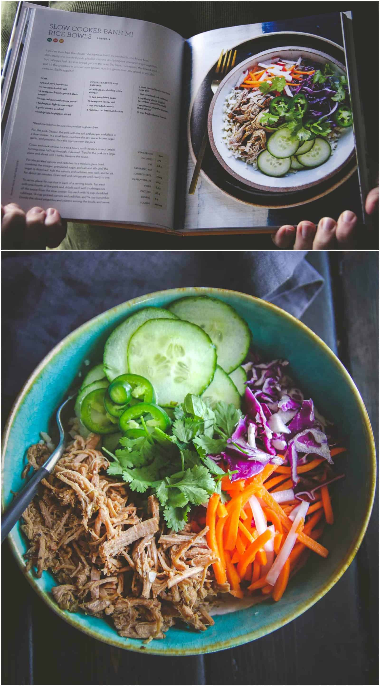 The most delicious slow cooker banh mi rice bowls