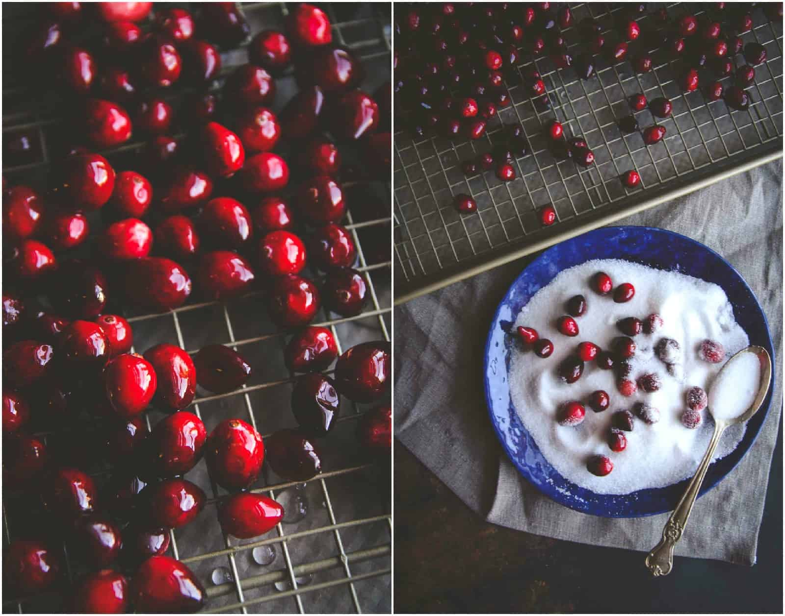 How to make sugared cranberries for a cocktail garnish for 5 ingredient holiday punch