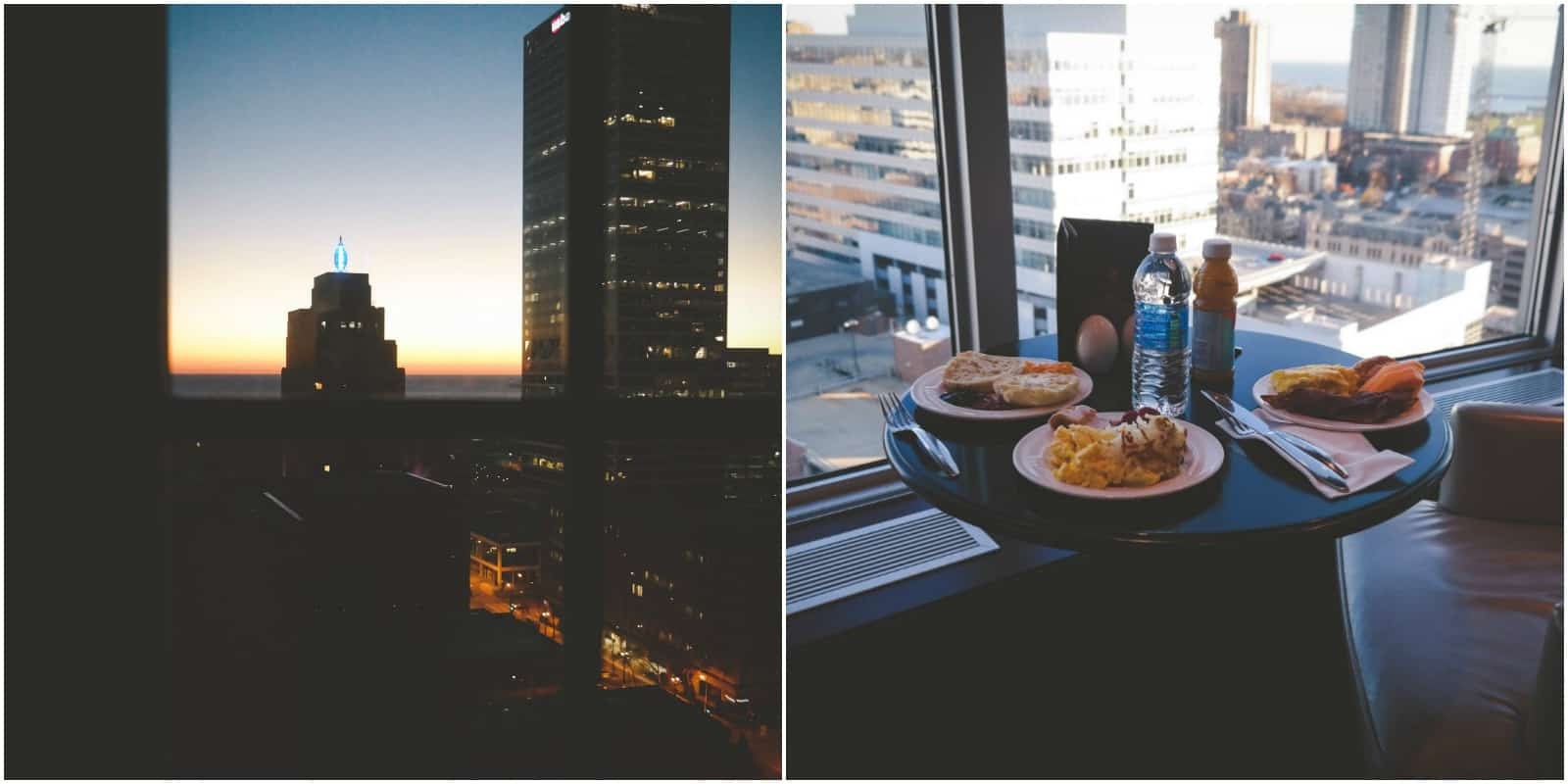 Milwaukee sunrise and breakfast at the Pfister Hotel