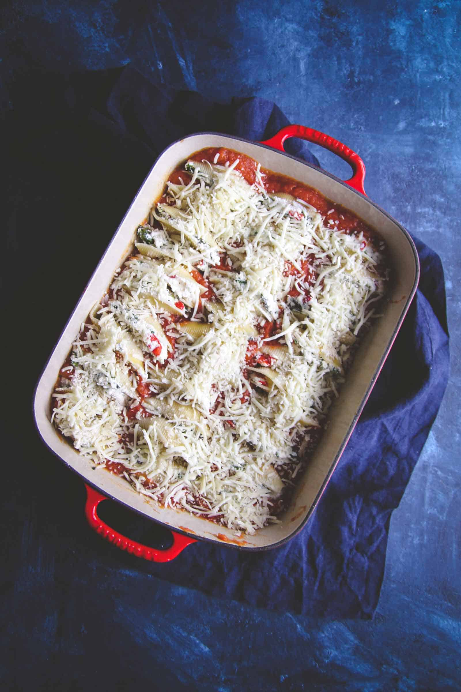 The best ever roasted vegetable stuffed shells recipe
