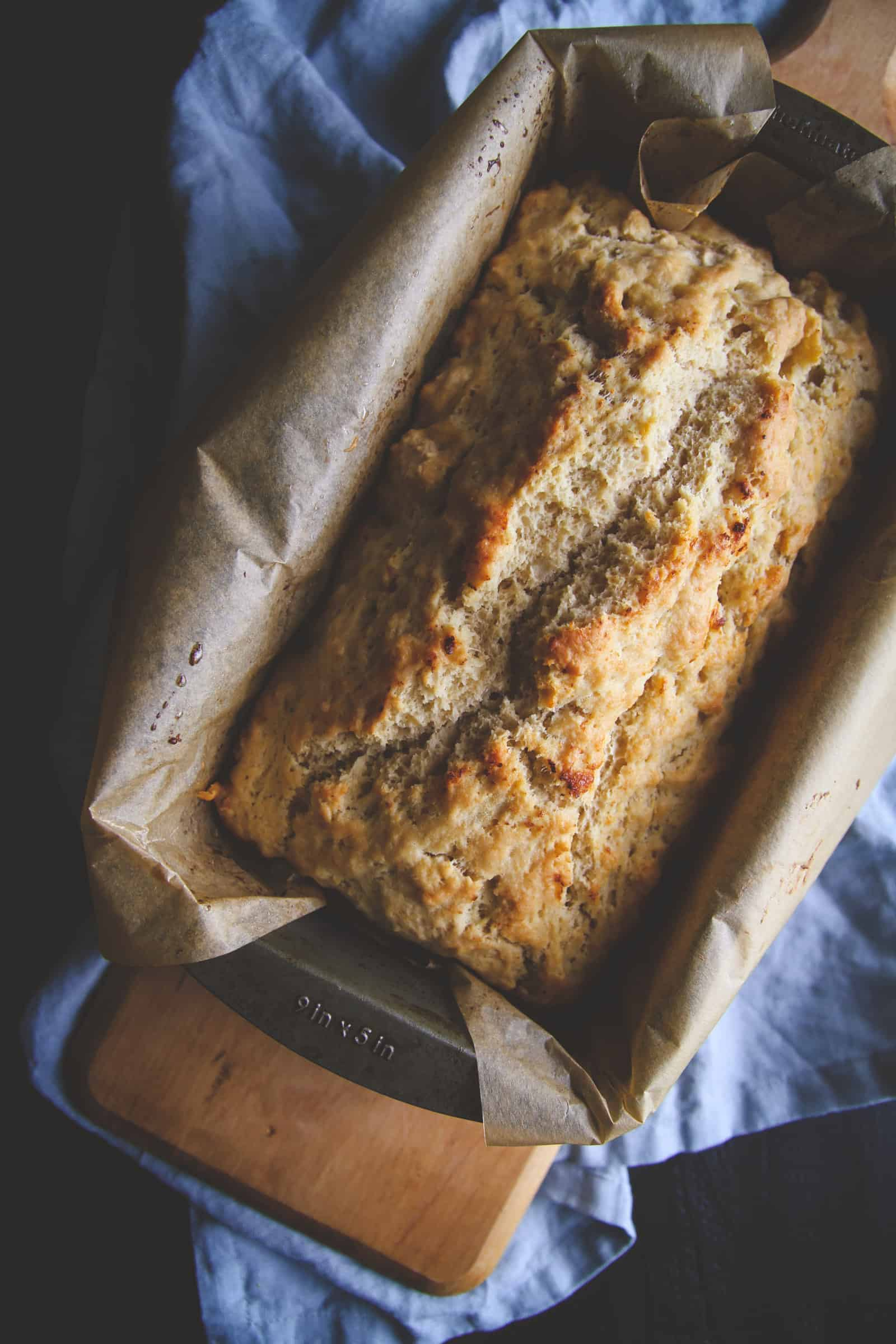 The perfect appetizer is this beer bread recipe