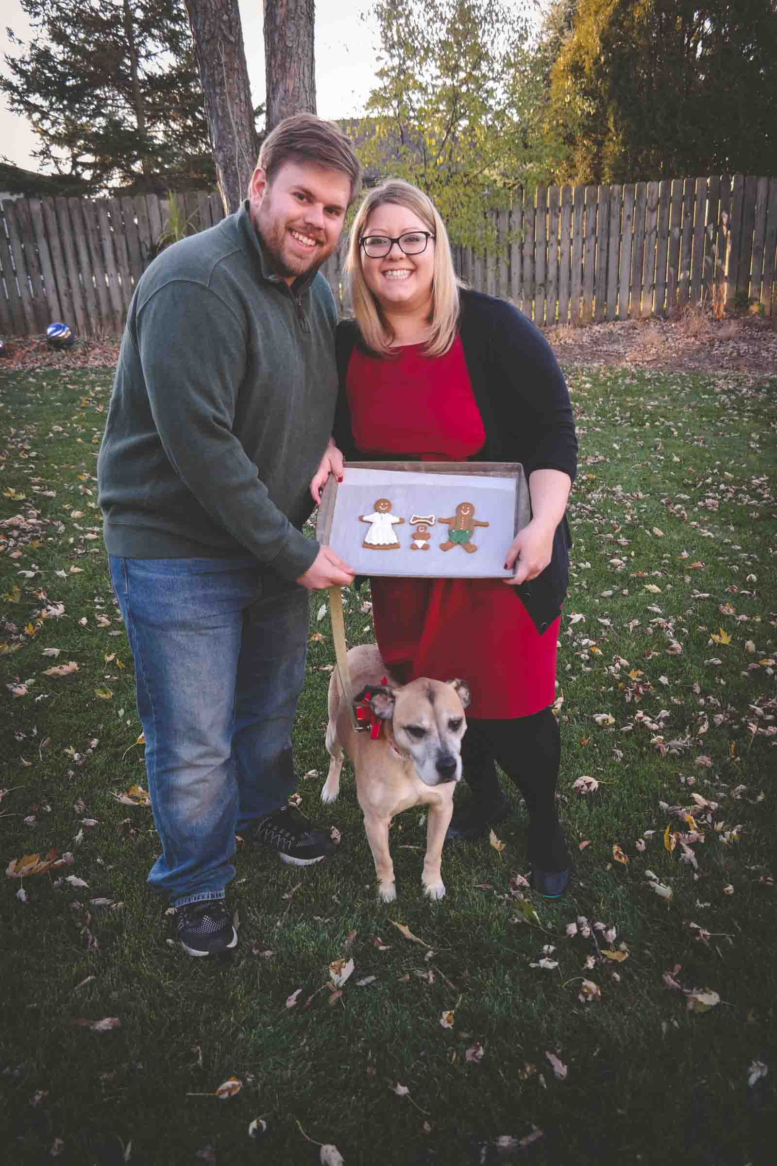 The cutest christmas card baby announcement