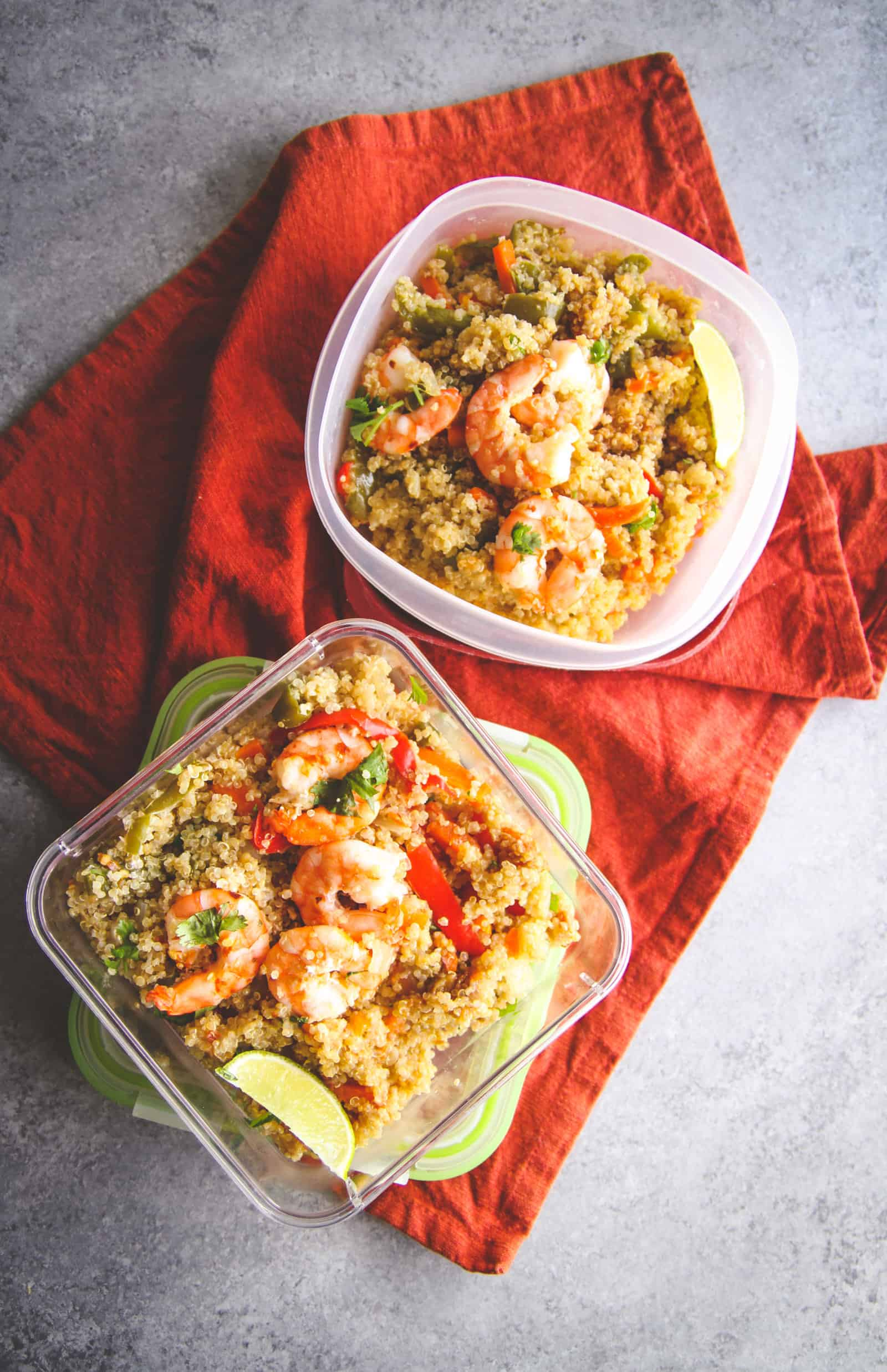 The most flavorful and healthy thai shrimp and quinoa