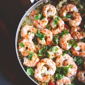 One Pot Thai Shrimp and Quinoa