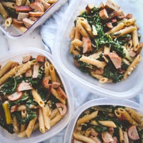 5 ingredient pasta for meal prep lunches