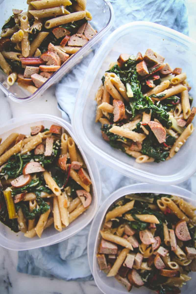 5 ingredient healthy pasta for meal prep lunches sweetphi forumfinder Images