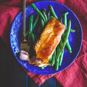 5 ingredient ginger teriyaki salmon and green beans recipe, healthy easy 5 ingredient dinner