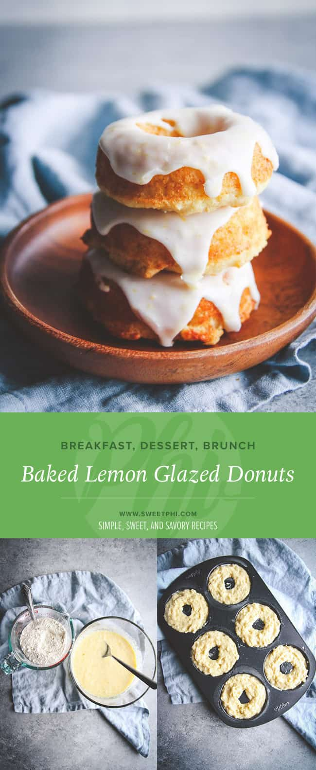 The most delicious lemon glazed donuts