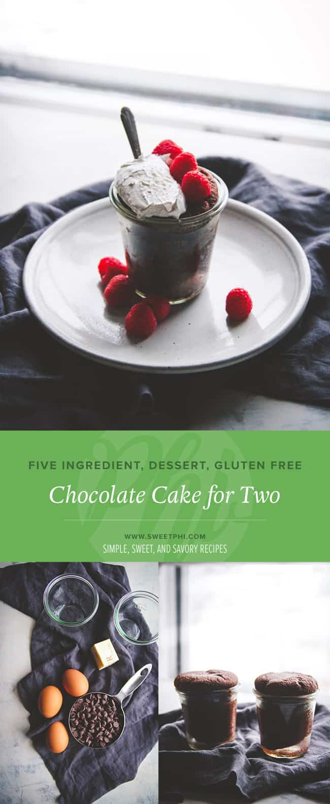 The perfect dessert for two is chocolate cake