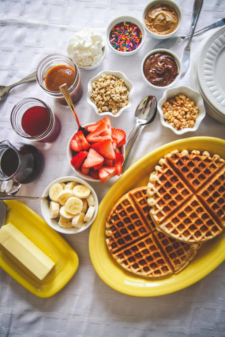 How to make a waffle bar