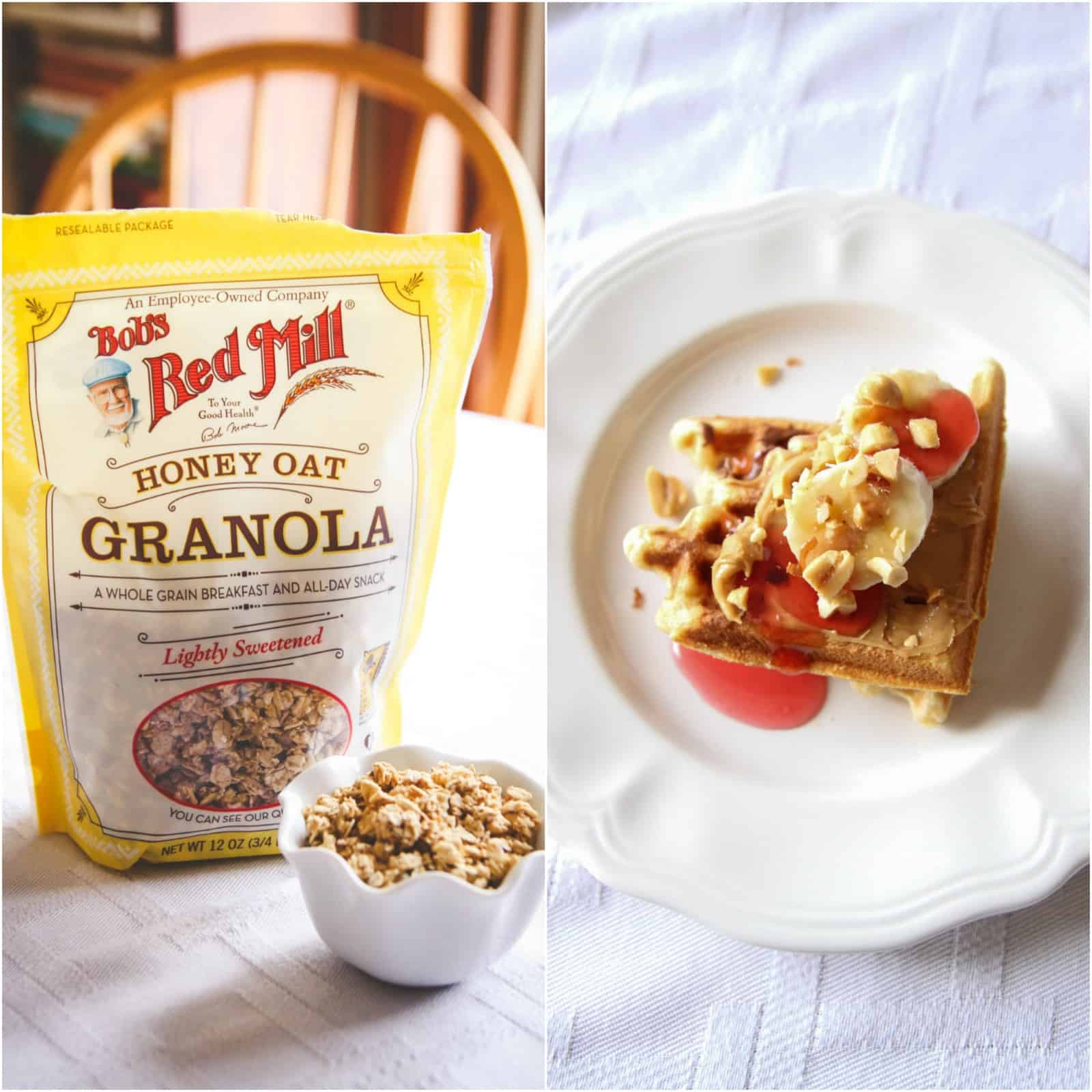 The most delicious waffles with granola