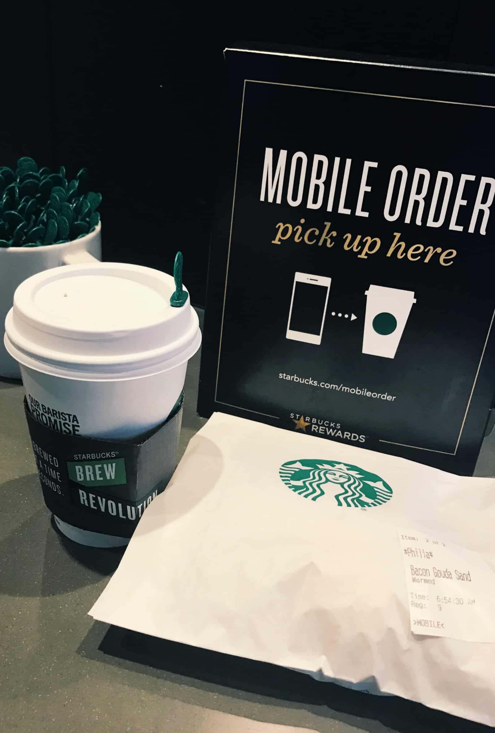 THe most convenient Starbucks mobile order