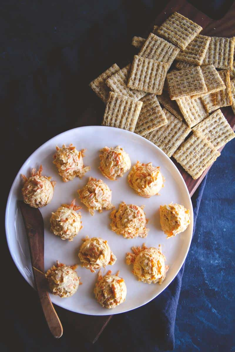 The best carrot cheddar cheese balls appetizer with only 5 ingredients
