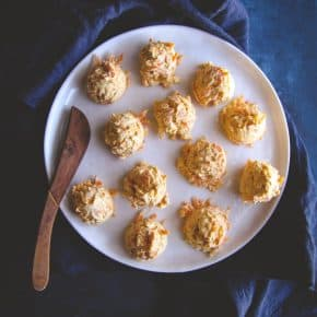 5 ingredient mini carrot cheddar cheese balls recipe - super easy no bake or cook appetizer recipe