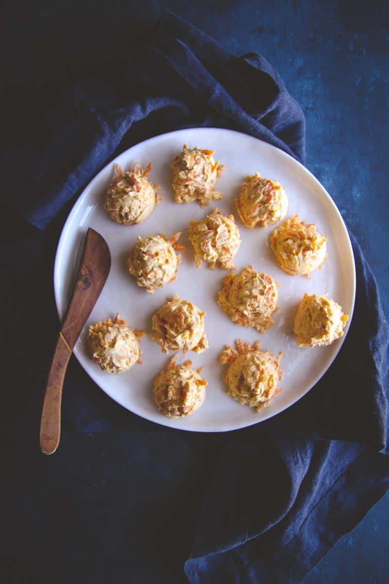 The best mini carrot cheddar cheese balls appetizer