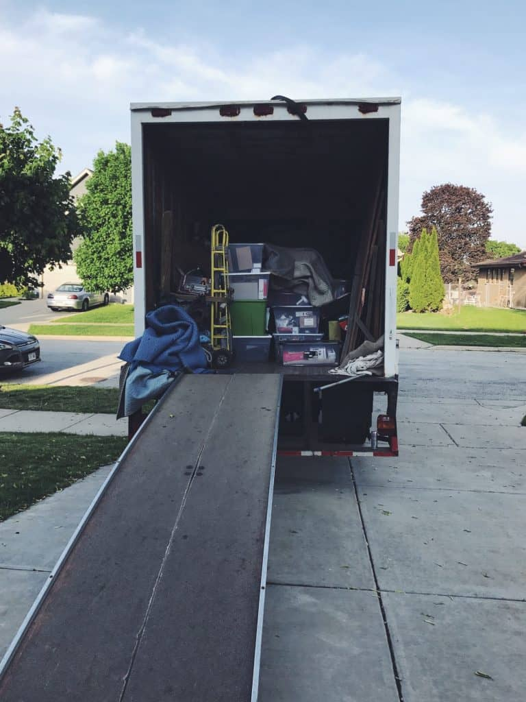 Moving truck - moving day