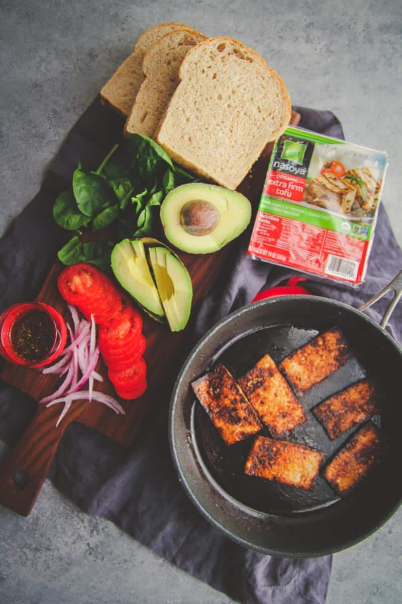 Easy and delicious vegetarian sandwich with tofu recipe