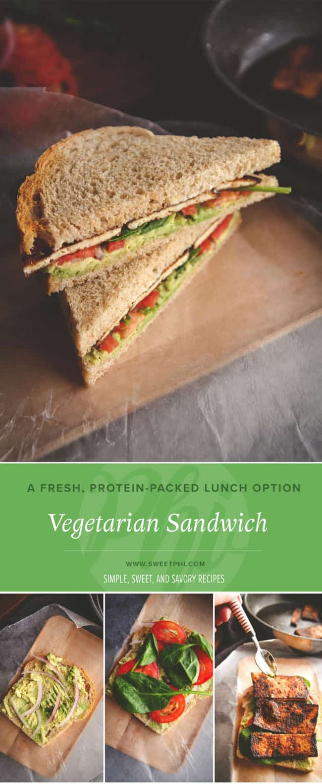 Easy and delicious vegetarian sandwich for lunch