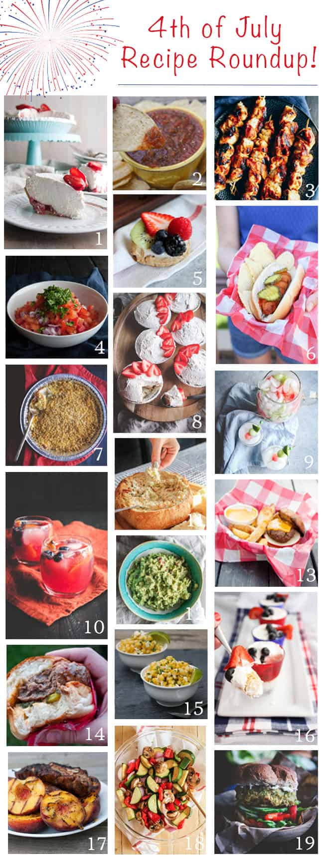 A 4th of July recipe roundup to include all of the best dishes to bring to any BBQ Bash!